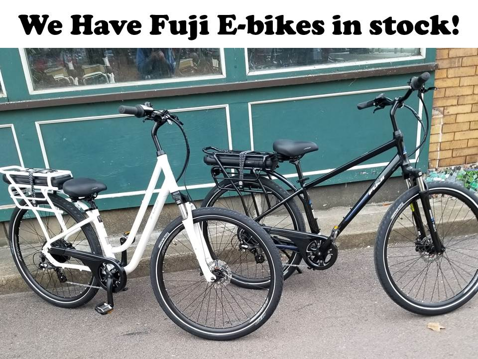 We have Fuji E-Bikes in stock!